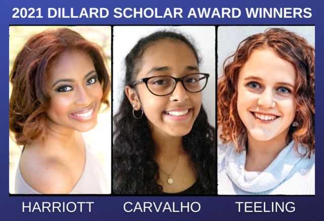 2021 Dillard Scholar Award winners
