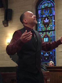 Wright performs with the American Spiritual Ensemble